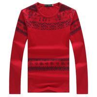 Autumn Spring Fashion Retro Chinese Wind Long-sleeve Casual Slim Plus Size M- 6XL Mens T-shirt