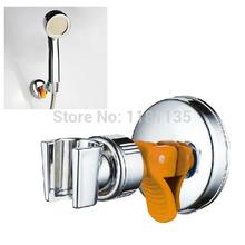 Giratorio cromado soporte del cabezal de ducha acoplable ajustable con succión Soporte Envío Gratis(China (Mainland))