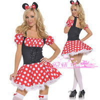 Mickey Minnie cartoon uniforms sexy uniforms fitted black lace waisted styles a wholesale generation of fat
