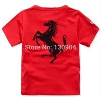 Summer New Kids Brand t shirt Boys Girls T-shirt Children Racing Clothing Baby Tees 100% cotton short sleeve O-Neck Tops Retail