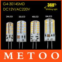 G4 LED Chandelier lamps 3W 4W 5W 6W 3014 SMD 24LED 32LED 48LED 64LED 360 degree light  High quality DC12V  AC220V LED Lighting