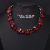 JOEY Fashion Luxury Crystal Gem Jewelry Statement Necklace women Dim Jewelry Chokers Necklaces FreeShipping
