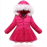 baby girl winter jacket 2014 winter jackets for girls children down and parkas coats clothing outwear kids thick Parkas coats