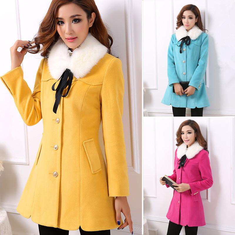 Женская одежда из шерсти Women casual coat Md LY1368 2014 coat
