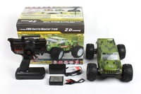 ZD 1:16 1/16 4WD 9053 Brushless Electric Monster Truck Green / Yellow  RC Drift  Electric Car For Gift Low Free Shipping gift