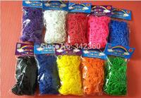 Hot DIY Refill Loom Bands Loom Rubber Band Bracelet (600 pcs bands + 24 pcs S-clips ) in each bag Best Gift Free FEDEX 500 bag