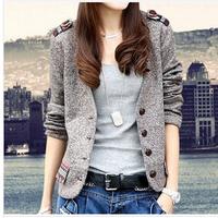 Retro Cotton Blazer Women Suit Jacket New 2014 Autumn Blazers Free Shipping  DJ-20