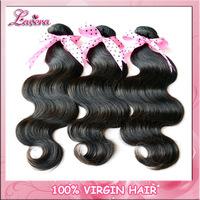 "Malaysian virgin human Hair weave body wave 3pcs Lavera hair extension products 4pcs 12""-30""  free shipping"