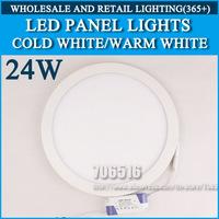 10PCS/lot High brightness LED Panel Lights ceiling lighting Round 24W 2835SMD Cold white/warm white AC85-265V