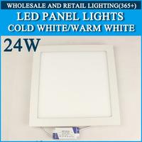 10PCS/lot High brightness LED Panel Lights ceiling lighting Square 24W 2835SMD Cold white/warm white AC85-265V