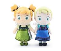 30cm Plush Elsa Frozen dolls soft doll Toys Princess Anna cute baby doll Elsa toddler dolls 2pcs/lot, each model one piece