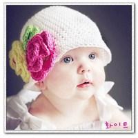 Handmade wool little kids' knit baby cap Beanie girls' winter hat