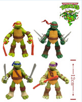 """2014 New Teenage Mutant Ninja Turtles Movie Version 5"""" Action Figure TMNT 4pcs/set Collection Toys with weapons"""