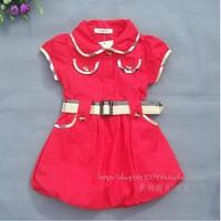 Hot 2014 new Spring&autumn kids formal tutu dress children princess party dress girls 3 color short-sleeve dress free shipping