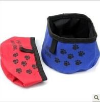 Free shipping Pet dogs pet Puppy Cats Portable folding bowl pet travel bowl