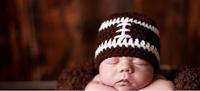 football Handmade wool knit baby boys' cap headwear Beanie winter hat