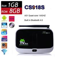 CS918S Android 4.2.2 Smart TV BOX Allwinner A31 Quad Core PC 1GB 8GB XBMC Bluetooth 3G 4K HDMI Camera Media Player TV Receiver
