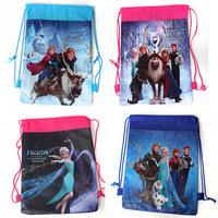 4Pcs Child Frozen/Violetta/Winnie the Pooh/Doc Mcstuffins/Spiderman Kids Drawstring school Backpacks bags Children mochilas