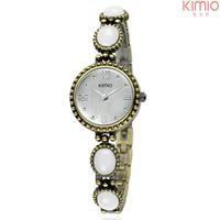 Kimio Watch Women original Antique emerald bracelet for girl Roma dial quartz vintage watches free shipping
