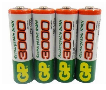 12pcs/lot original GP aa rechargeable battery 3000mah / gp 3000 / / rechargeable battery gp batteries 1.2V Ni-MH + Free shipping(Chi