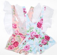 5pieces/lot, Summer Baby Girls floral Suspender Shorts, good quality! A-ab066