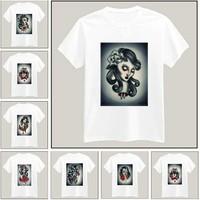 Evil Girl Printed Tshirt For Women Men Short Sleeve Unisex Cotton Casual White Shirt Top Tee XXXL Big Size ZY055-23
