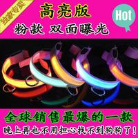 LED light pet collars dog collar Teddy Golden Glow fluorescent collar Pet Collar