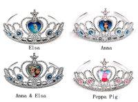 New Arrival 4 Models Cartoon Peppa Pig Frozen Anna Elsa Tiara Crown Hair Band For Children