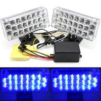 One Set Blue LED Daytime Running Light  Flash Emergency Warning Strobe Light Car Light 12V