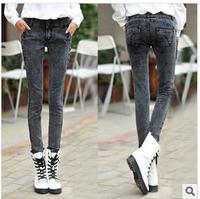 Denim 2014 Autumn New Women Slim Pencil Pants Feet Jeans Trousers DJ-25