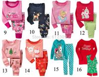 Wholesale (6sets/lot) 100% cotton baby boys and girls Christmas Pajama Pijamas kids baby 2pcs clothing children pajamas