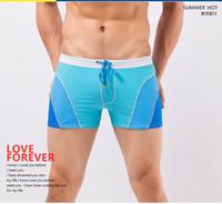 3 colors!! New 2014 Men Swimwear Sexy swimming trunks Color Match Swim Shorts Boxers swimsuit Men Swimsuit M,L,XL,XXL