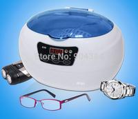 110V/220V jewelry eyeglasses dental ultrasonic cleaner 600ml with coloful lid