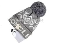Snowflake Star Thicken Winter Skullies with Pom Brand Designer Fashion Hats Female Toucas de inverno Gorro Warm Beanie Men Women