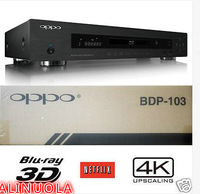 100% new original OPPO DIGITAL BDP-103 3D UNIVERSAL NETWORK BLU-RAY DVD PLAYER 4K UPSCALING NEW 100-240v 50/60Hz NTSC/PAL UPS /