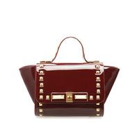 2014 bag fashion rivet bag japanned leather women's handbag messenger bag small bags