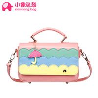 Circleof bag color block set cartoon bag charm portable women's cross-body handbag shoulder bag x1669