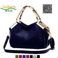2014 fashion women handbag crocodile pattern women PU leather handbag vintage shoulder bag crossbody women messenger bag totes