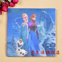 NP165 3 packs 60pcs Frozen Theme Party Color Napkin Paper 100% Virgin Wood Tissue for Party Decoration Paper Crafts
