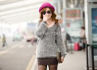 Upscale female coat loose knitting sweater