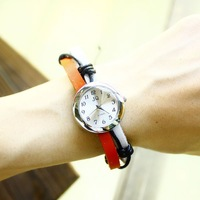 2014 wholesale vintage Genuine Cow leather fashion Wrap Women watch ladies wrist watch free shipping