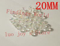 Wholesale 20pcs AB Color Acrylic Crystal Imitation Charms Beads Ball Facets Beads 20mm For Jewelry Bracelet DIY (B00081G)