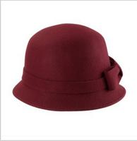 Fashion Vintage Autumn Winter Multicolor  Women Dome Hat Fedora Hat England Bowler Caps Ladies Headwear Bucket Hat