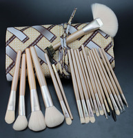 Free ShippingHigh Quality 20 pcs Makeup Brush Professional Make up Brushes Kit with Leather bag