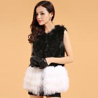 2014 fur raccoon fur vest beach wool fur vest women's medium-long outerwear