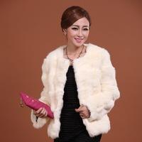 M-2XL New Women's Autumn And Winter Fashion Long Sleeve O-Neck Elegant Rabbit Fur Coat A302B , EMS Free Shipping