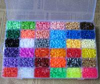 Wholesale New 2014 Hot Selling 5mm Hama Perler Beads 36 Colors11000Pcs Box Set Fuse/Perler Beads Diy Educational Toys Craft Gift