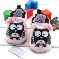 Baby girls cartoon owl shoes infant footwear casual first walkers suitable for pre-walkers antiskid branded shoes 5141