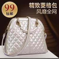 2014 spring and summer fashion bag plaid bag fashion women's bags female handbag messenger bag