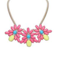 Canlyn Jewelry (2 pieces/lot) Fashion Resin Multi-Color Elegant Statement Necklaces & Pendants Wholesale CX181
